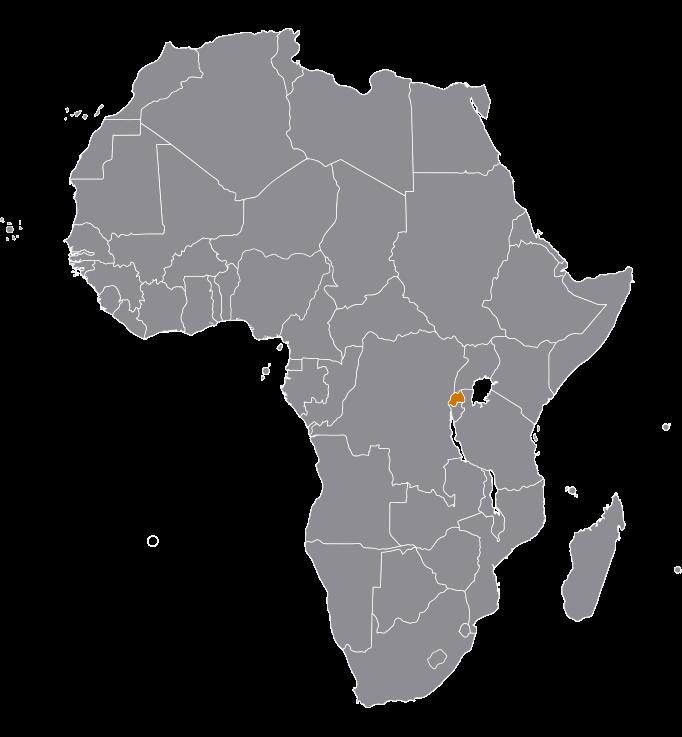 Landkaart Rwanda