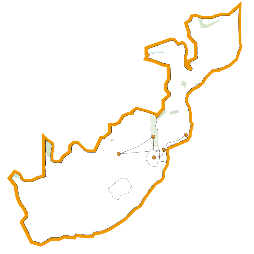 Landkaart-Voorbeeldreis-Zuid-afrika-mozambique-swaziland