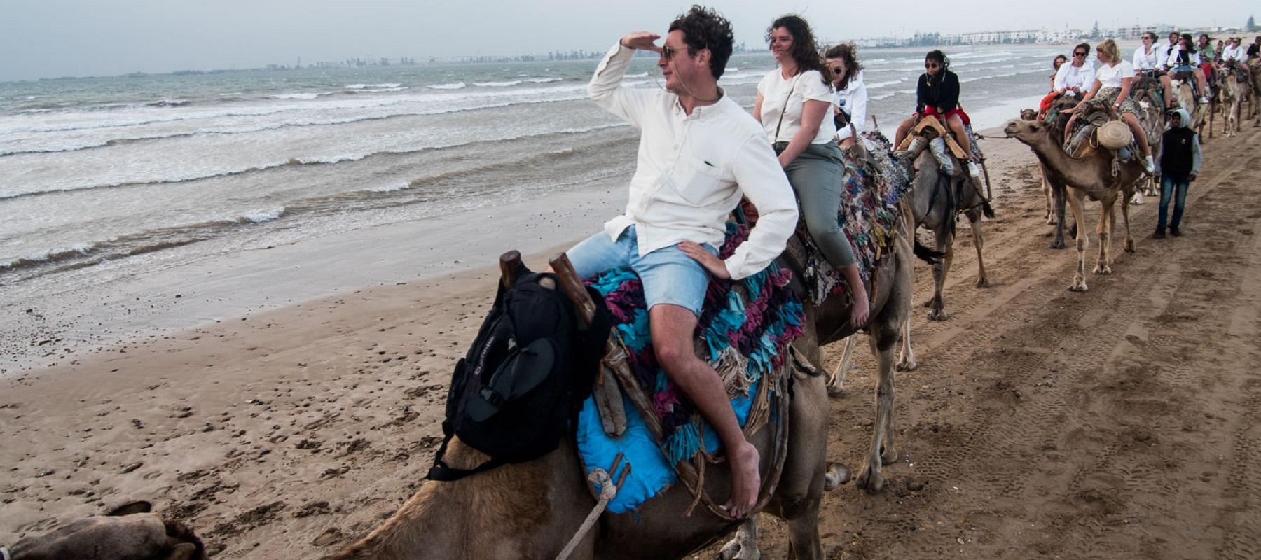 kameelrijden strand Marokko