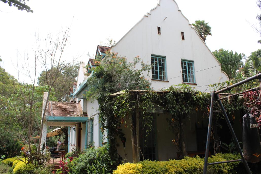 Foto van de zijkant van de Jungle Villa